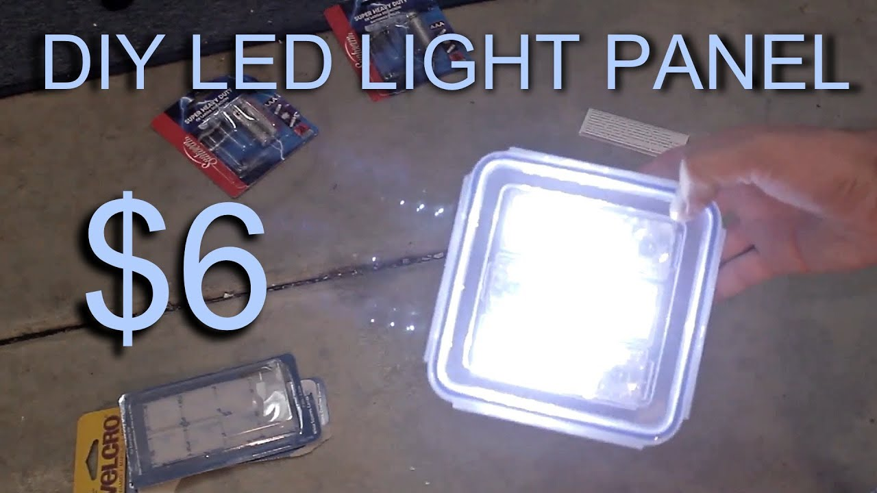 diy led light panel 6 doovi. Black Bedroom Furniture Sets. Home Design Ideas