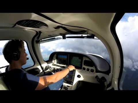 Cirrus SR22 IFR Super Cross Country - Grand Rapids to Boca Raton, Sick Child and Rude ATC