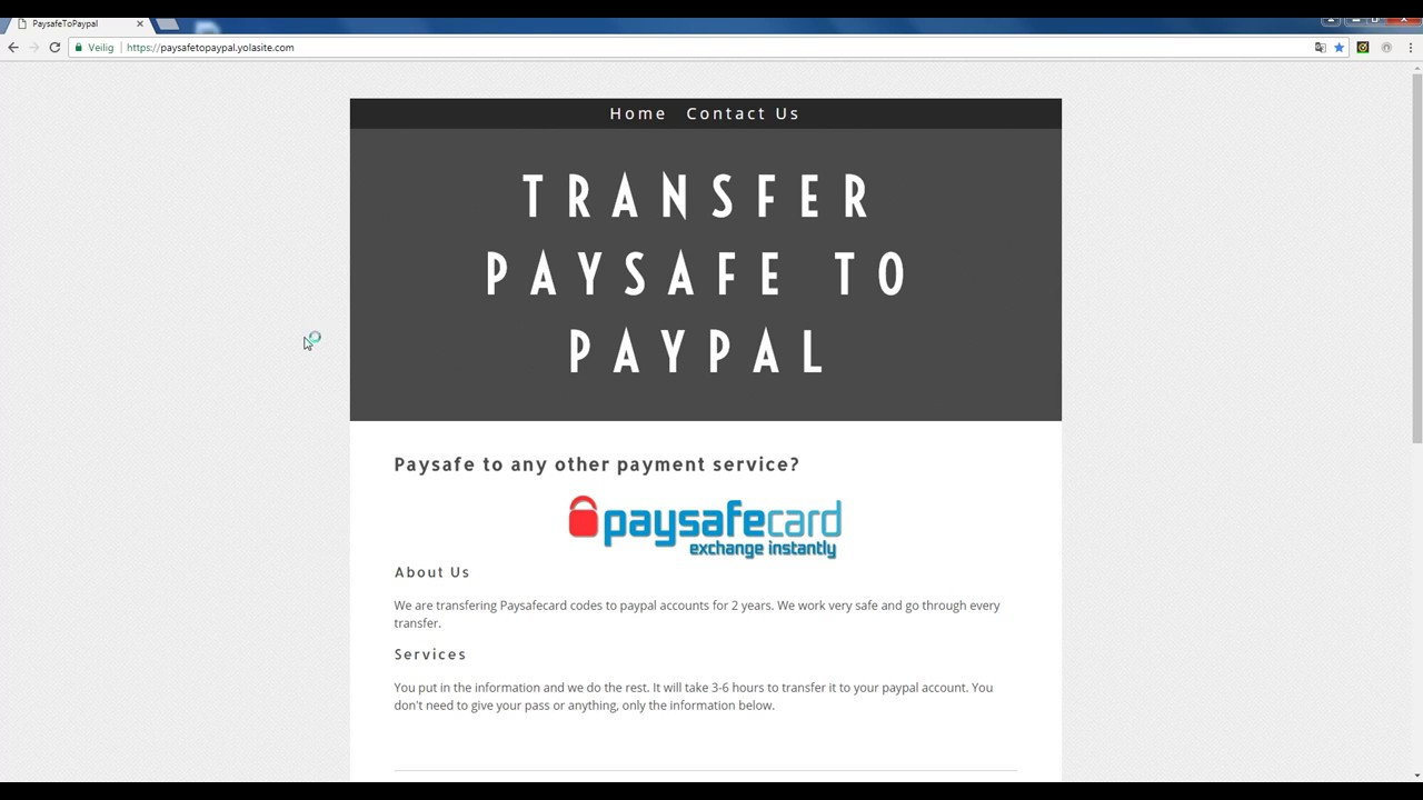 Transfer Money From Paysafe To Paypal