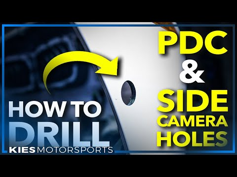 How To Drill Parking Sensor (PDC) And Side Camera Holes In An F30 | F80 BMW Bumper