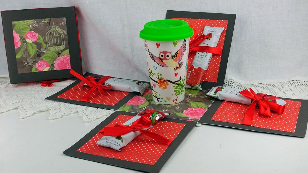 Коробочка с сюрпризом. Мастер-классы на Подарки.ру - YouTube