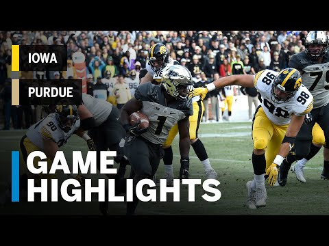 Highlights: Iowa Hawkeyes vs. Purdue Boilermakers | Big Ten Football
