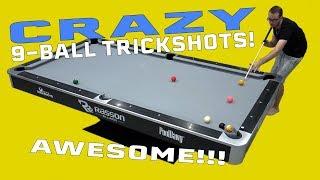 CRAZY 9 BALL POOL TRICK SHOTS!!