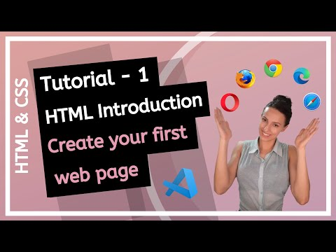 HTML & CSS (2020) - Introduction To HTML! How To Create First Web Page? - Beginner Course