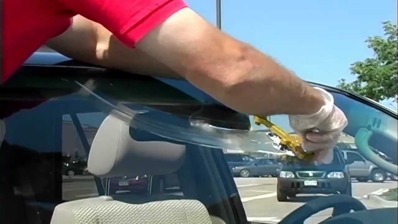 Windshield Glass Repair Kit >> Windshield crack repair (17 inch) - YouTube