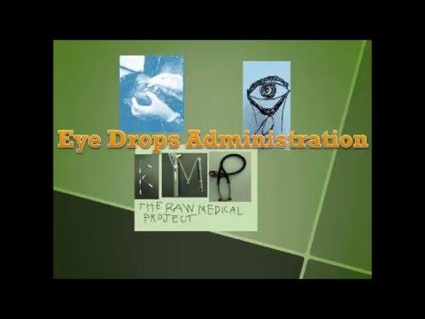 Alternative way of administering eye drops pulling up method