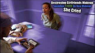 Destroying Girlfriends Makeup Then...Spent $1000 On New Makeup! *Gets Emotional*