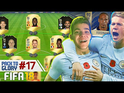 MONTEI UM TIMAÇO DA PREMIER LEAGUE COM FERDINAND 90!! PACK TO GLORY #17