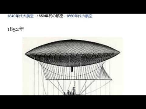 1850年代の航空」とは ウィキ動...