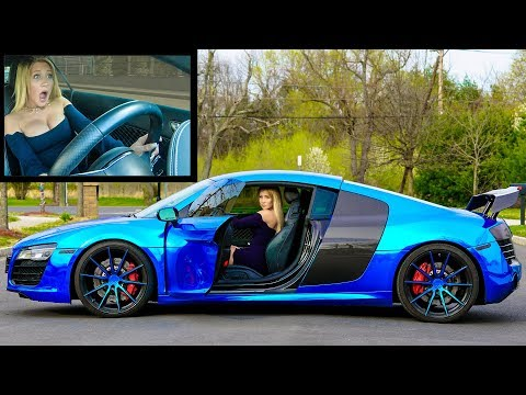 GIRLFRIEND DRIVES MY AUDI R8 V10 *FIRST TIME EVER*