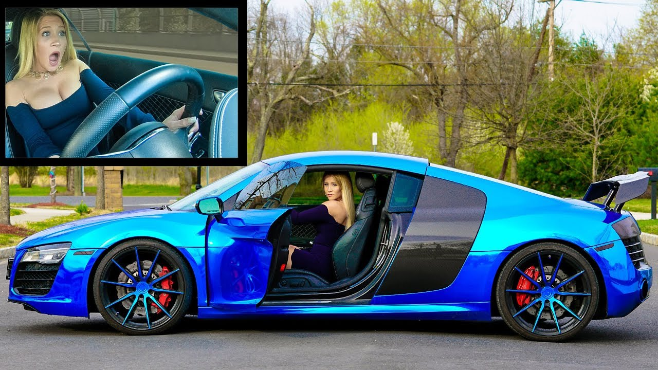 GIRLFRIEND DRIVES MY AUDI R8 V10 *FIRST TIME EVER* - YouTube