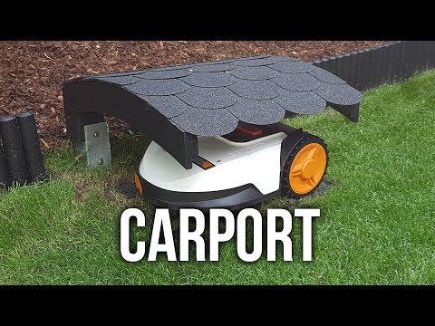 Carport für Worx Landroid S Mähroboter - DIY Wir bauen ein Dach für unseren Roboter