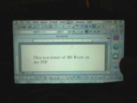 Microsoft Word 6.0 for Mac on PSP via Basilisk II