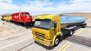 Train Accidents #7 - BeamNG DRIVE | SmashChan