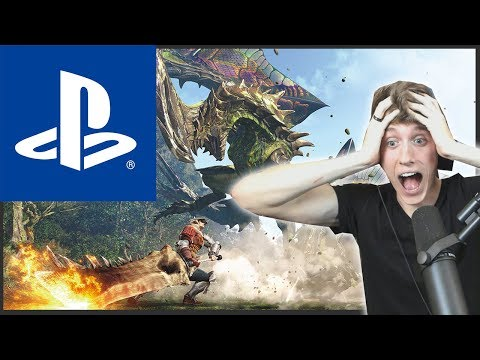 NEW MONSTER HUNTER CONSOLE GAME! MONSTER HUNTER WORLD LIVE REACTION!!!
