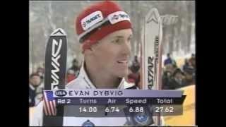 Evan Dybvig skiing Moguls @ Goodwill Games 2001