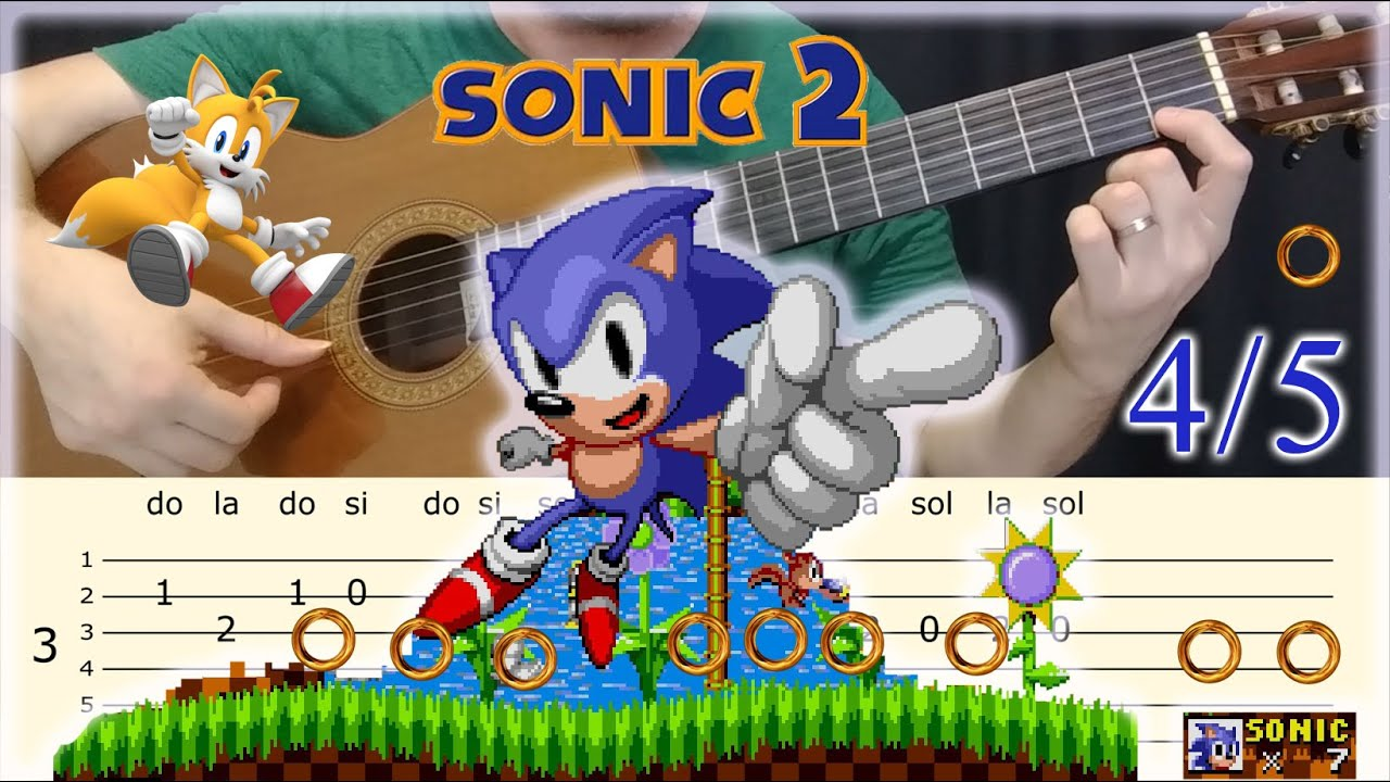 Sonic Green Hill Zone 4 4 Easy Tab For Guitar Youtube