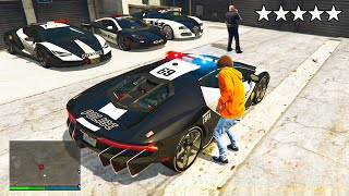 Stealing LUXURY POLICE CARS From The Police Station In GTA 5 RP!
