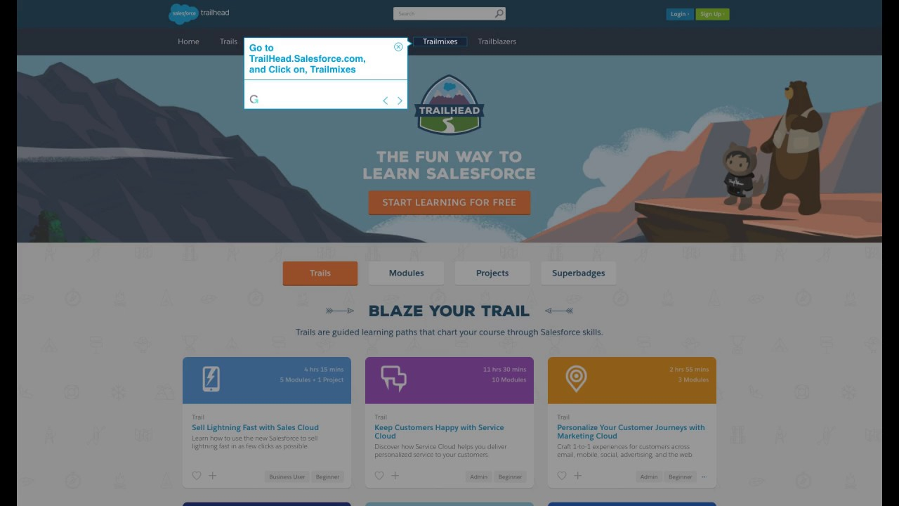 How to create a Salesforce Trailhead Trailmix in simple steps