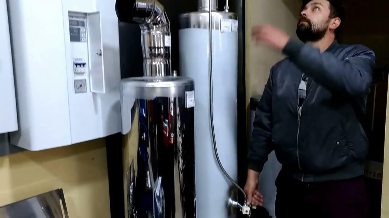 Дровяной водонагреватель — водонагреватель, использующий дрова и уголь для нагрева. В настоящее время дровяные (угольные) водонагреватели (титаны) применяются в поездах и в местностях, где отсутствует газовые.