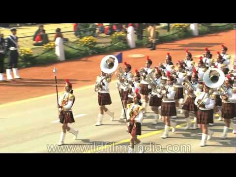 NCC Band of Birla Balika Vidyalaya Pilani performing at Republic Day parade