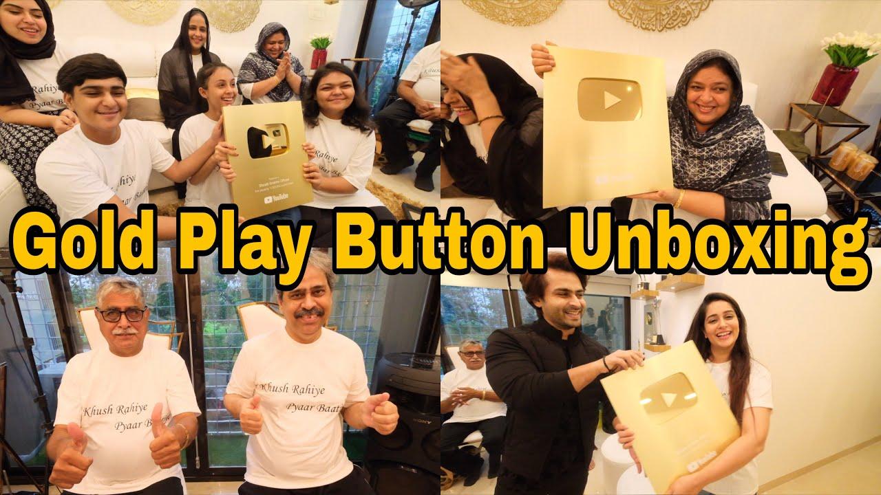 Most awaited vlog  Unboxing my Gold Play Button  Celebration time  Ibrahim Family  Shoaib Ibrahim