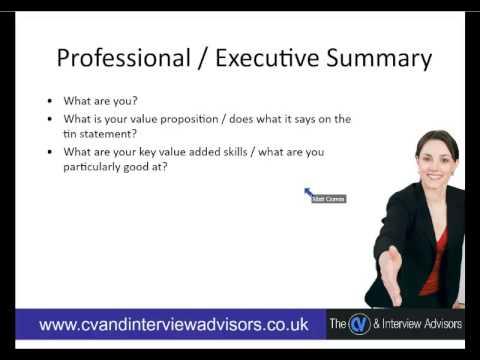 professional summary video youtube