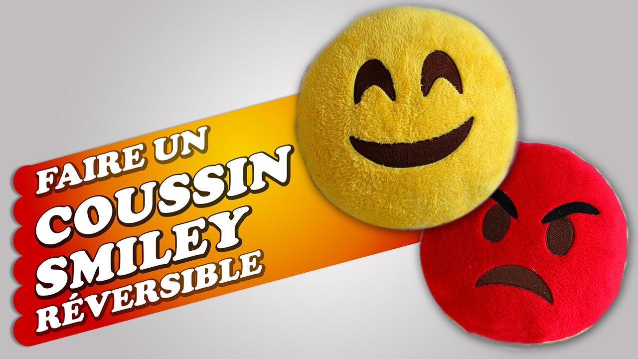 Broderie Machine Atelier Cr Atif 4 Faire Un Coussin Smiley R Versible Youtube
