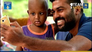 Sri Lanka Cricketers pay a visit to Apeksha (Cancer) Hospital in Maharagama