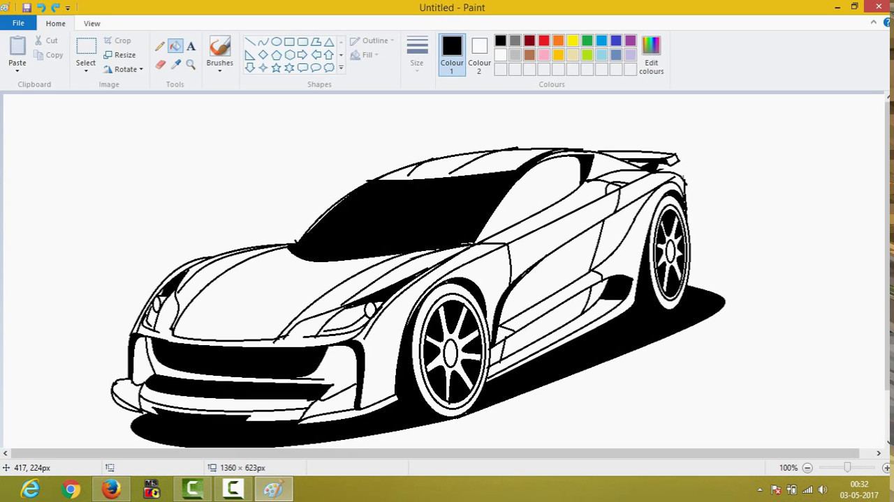 Colour a car - Making A Car In Ms Paint With Each Step