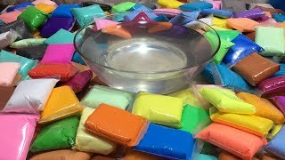 Mixing 100+ Soft Clay Into Clear Slime - Most Satisfying Slime Videos ! Tom Slime