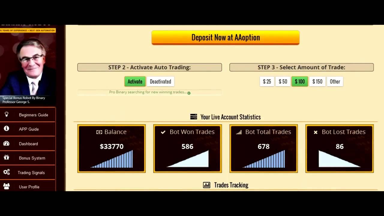 Trading opciones binarias demo sin deposito