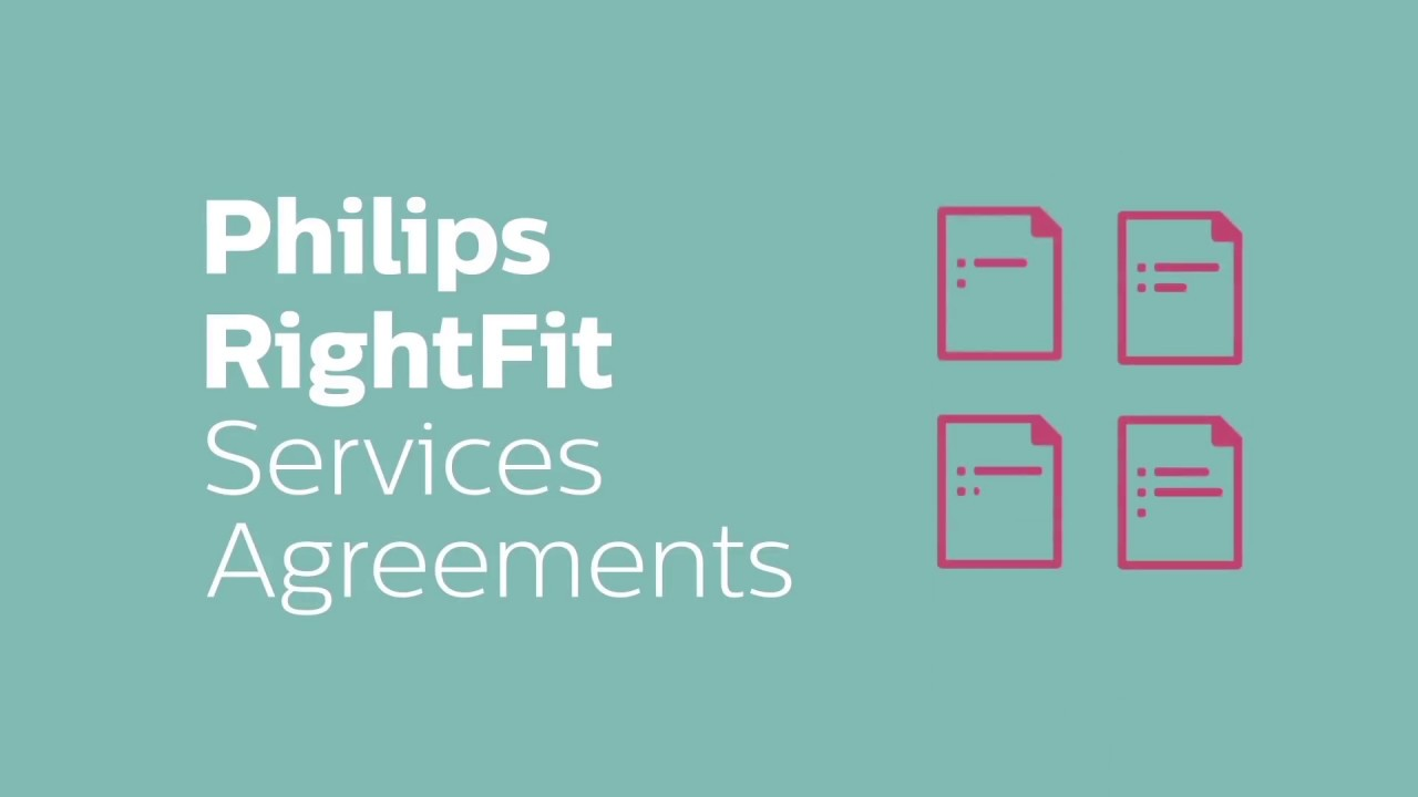 Philips Rightfit Service Agreements Youtube