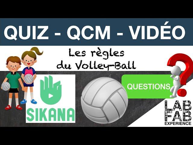 Quiz - QCM - Volley ball - Les règles - Questions