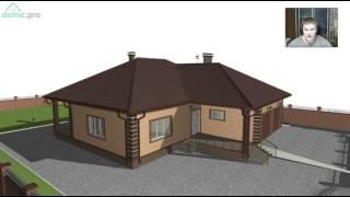 Проект одноэтажного дома с гаражом на два автомобиля  «Семья+» D-258-ТП