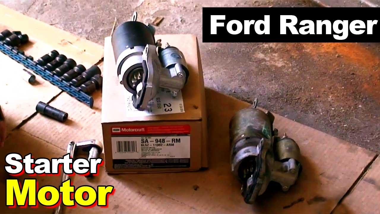 2000 ford ranger engine diagram code alarm ca 110 wiring 2003 starter motor youtube