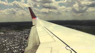 Southwest 737-700 Rwy 33 Landing at Bradley International Airport/KBDL