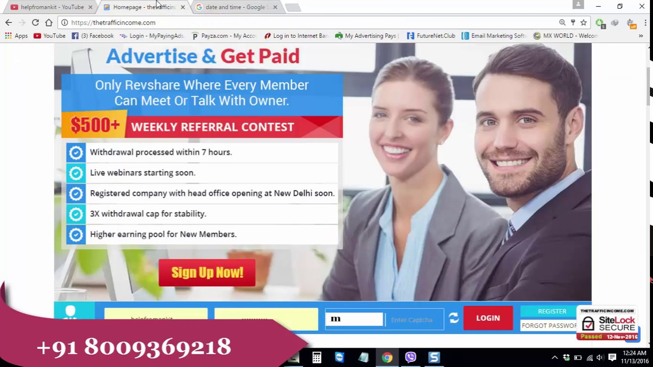 How To repurchase Ad pack & View 10 ads in Thetrafficincome Hindi ...