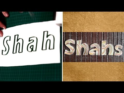 How To Make Personalized Name Plates : Outlining | DIY Quilled Paper Letter | Home Decor