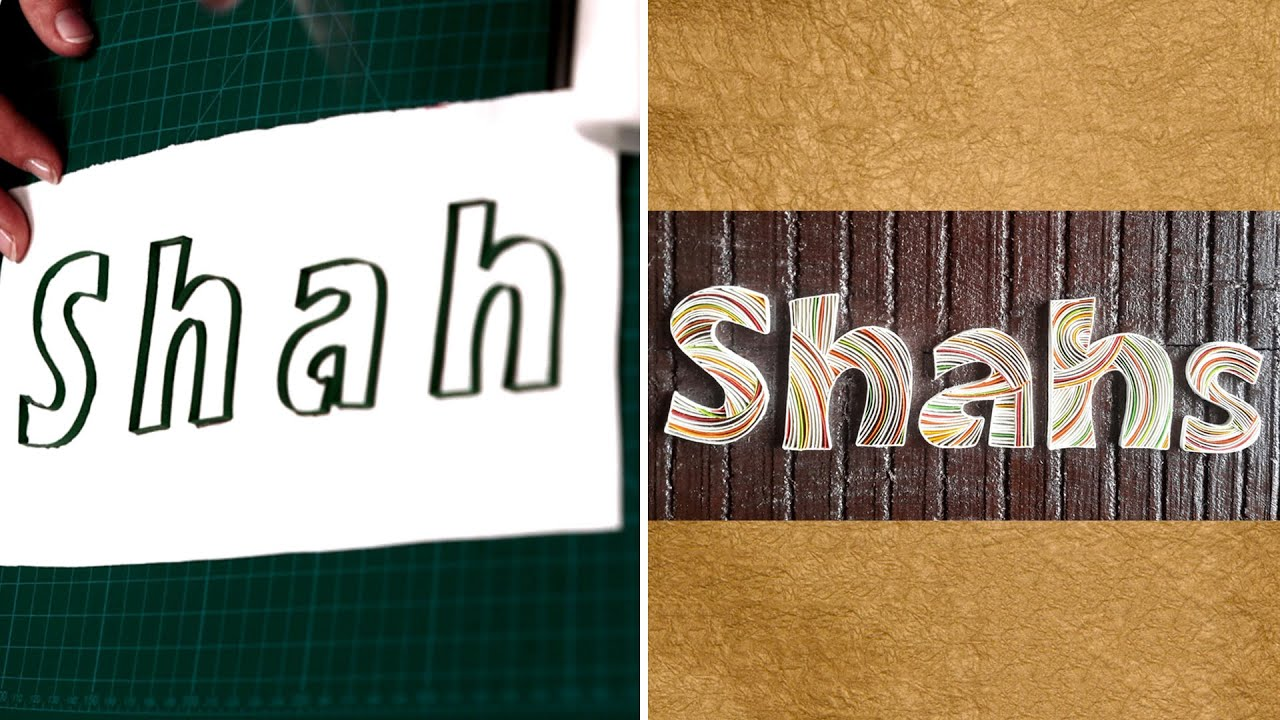 how to make personalized name plates outlining diy