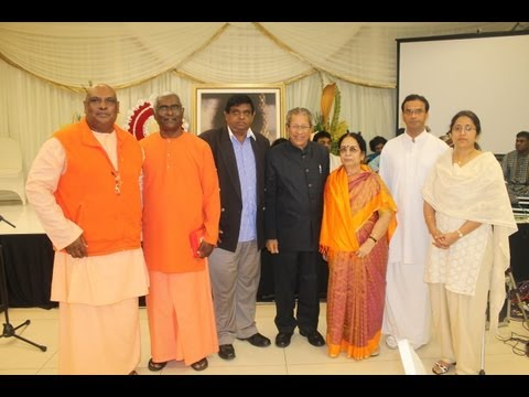 All are one, A Multi Faith satsang in Hotel Pavilion, Durban, South Africa Sept 13, 2013