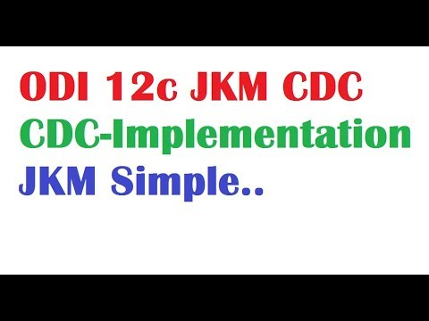ODI 12c Tutorial Lessions13 CDC Simple Implementation using JKM Journalization knowledge module