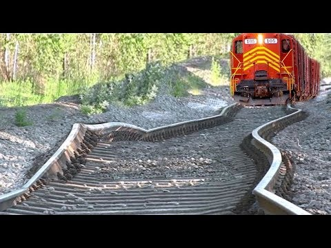 Extreme Train Railway Tracks Replacement Modern Technology - Amazing Rail Building Machines 2018