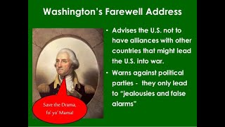 GOHMULTI ~ HISTORY MTEL 06 KEY TERMS ~ George Washington's Farewell Address~ GOHACADEMY.COM
