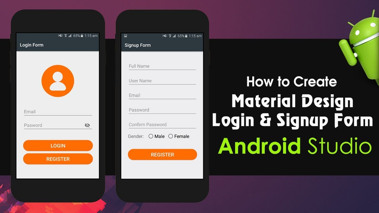 Android Studio Tutorial – How to Create Material Design Login and Signup Form