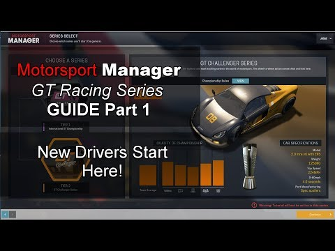 Motorsport Manager GT Series DLC Guide, Ep 1