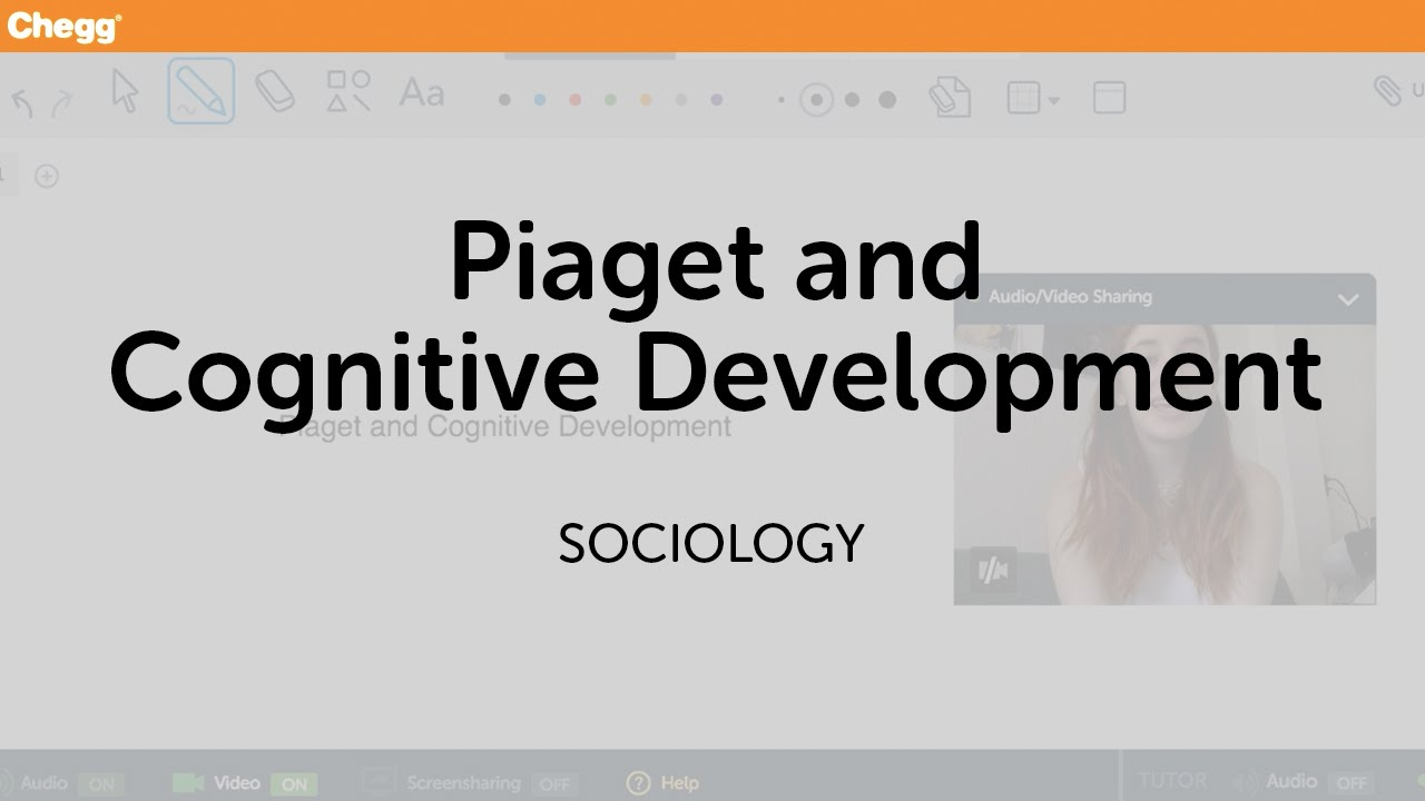 piagets cognitive developmental theory sociology chegg tutors