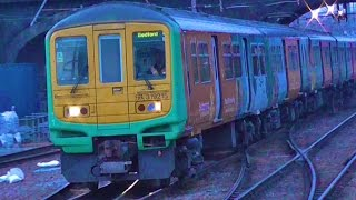 Thameslink Class 319s At Bedford - Monday 14th December 2015