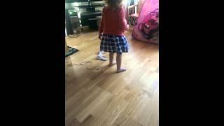 Toddler on slippy floor