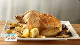 Roasted Chicken With Celery Root And Red Onion - Everyday Food With Sarah Carey